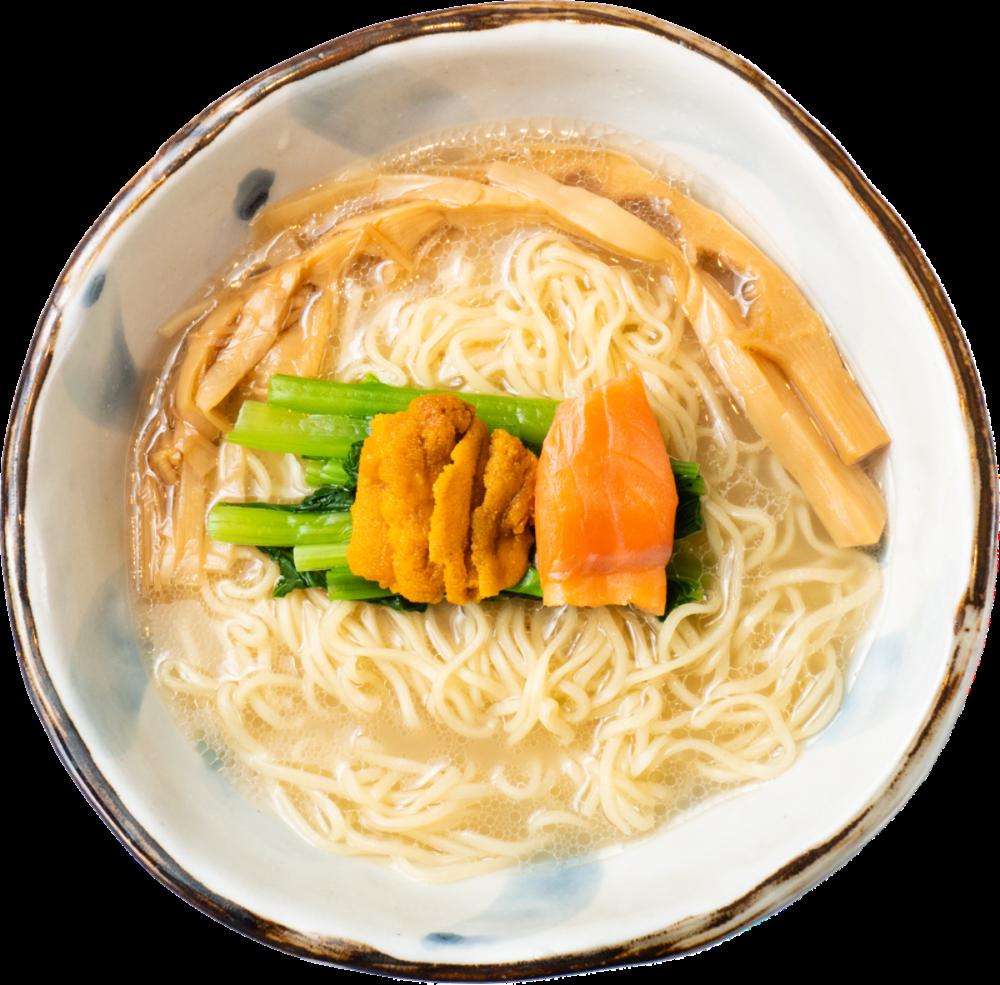 ウニと魚介の塩ラーメン - 潮の風吹くラーメン ハナヤマZ